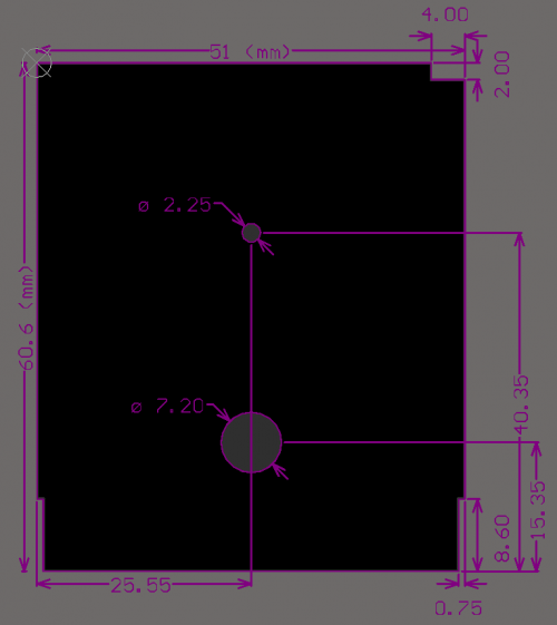 DMG Cartridge PCB Outline